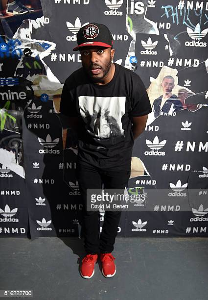 Manny Norte attends the adidas Originals launch of NMD Future House on March 17 2016 in London United Kingdom