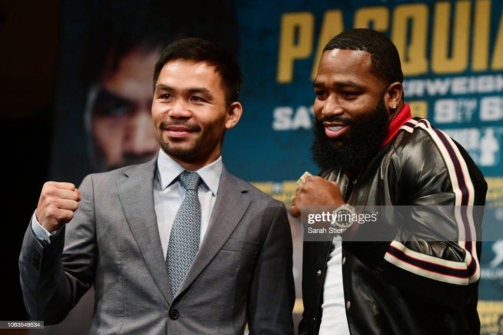Manny Pacquiao v Adrien Broner - Press Tour : ニュース写真