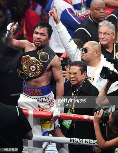 Manny Pacquiao and former Gov. Of the province of Ilocos Sur, Philippines and the former Deputy National Security Adviser for the Philippine...