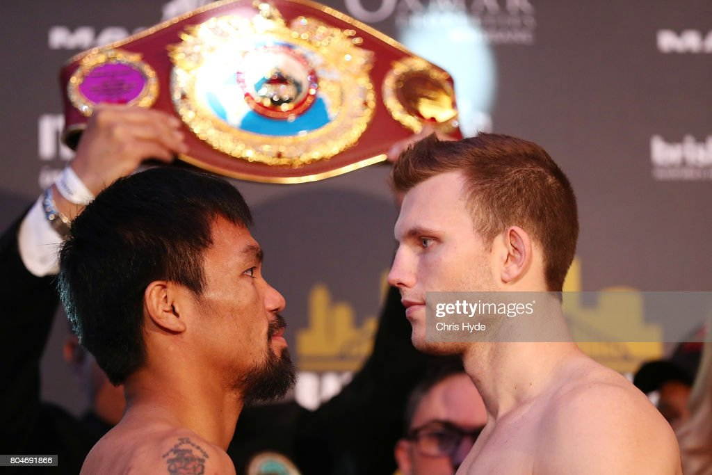Jeff Horn v Manny Pacquiao Weigh In