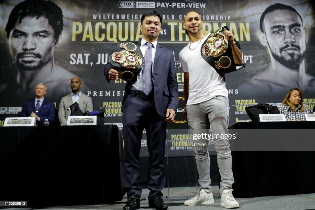 NY: Manny Pacquiao v Keith Thurman - Press Conference