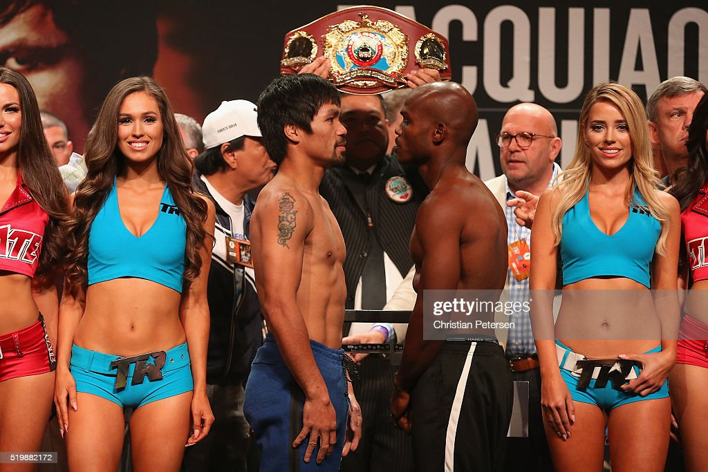 Manny Pacquiao v Timothy Bradley Jr. - Weigh-in