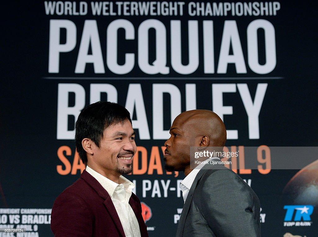 Manny Pacquiao v Timothy Bradley Media Tour : News Photo