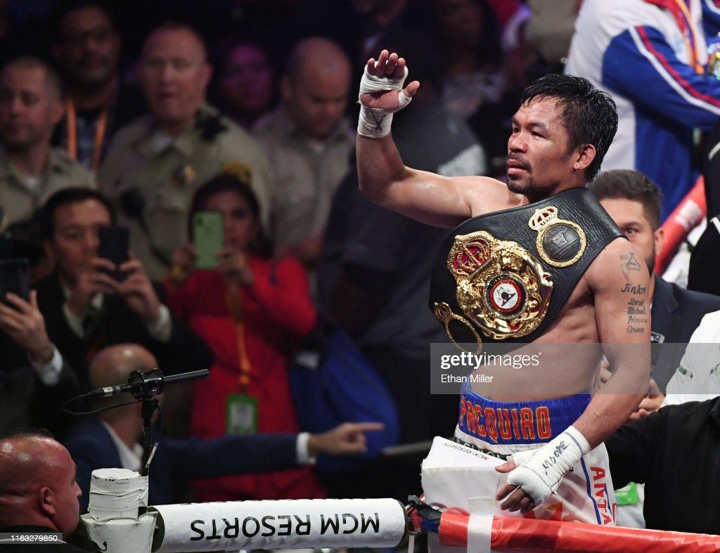 Manny Pacquiao v Keith Thurman : News Photo