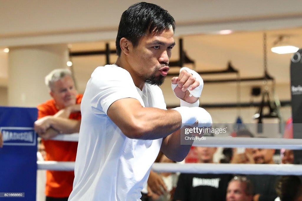 Manny Pacquiao Press Conference : News Photo