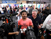 hollywood california manny pacquiao makes speaks