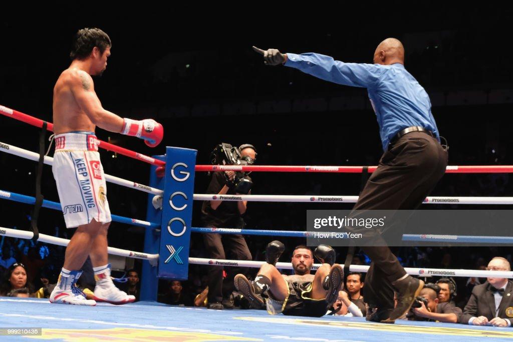 Manny Pacquiao v Lucas Matthysse - WBA Welterweight Title Bout : News Photo