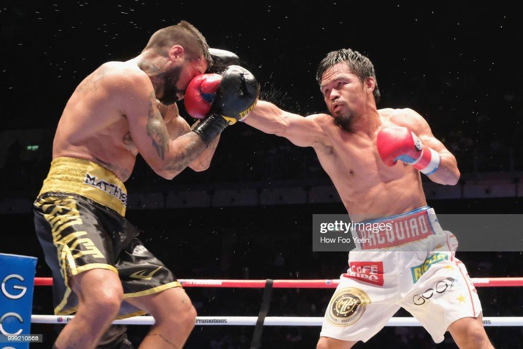 Manny Pacquiao v Lucas Matthysse - WBA Welterweight Title Bout : Nieuwsfoto's