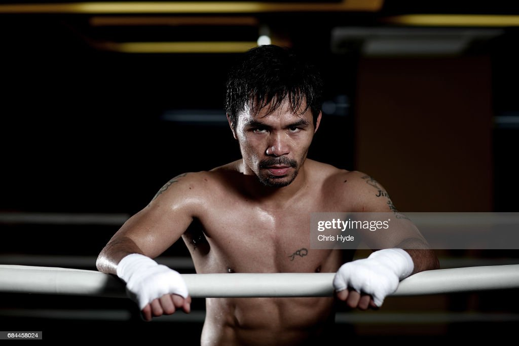 Manny Pacquiao Prepares For Fight Against Jeff Horn : News Photo