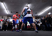 hollywood california manny pacquiao spars with