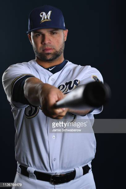 Manny Pina of the Milwaukee Brewers poses during the Brewers Photo Day on February 22 2019 in Maryvale Arizona