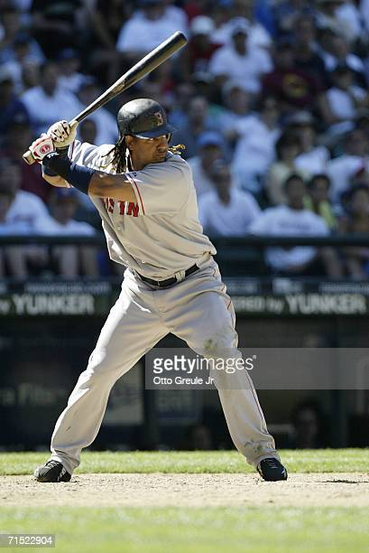 Manny Ramirez of the Boston Red Sox bats against the Seattle Mariners on July 23 2006 at Safeco Field in Seattle Washington The Mariners defeated the...