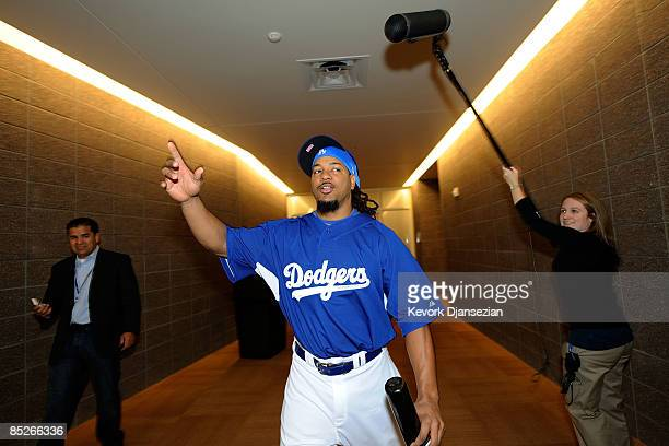 Manny Ramirez walks out of the clubhouse on March 5 after arriving at Camelback Ranch in Glendale Arizona Ramirez signed a $45 million twoyear...