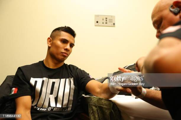 Manny Robles prepares for his WBA Featherweight title opportunity against Xu Can at Fantasy Springs Casino on November 23 2019 in Indio California