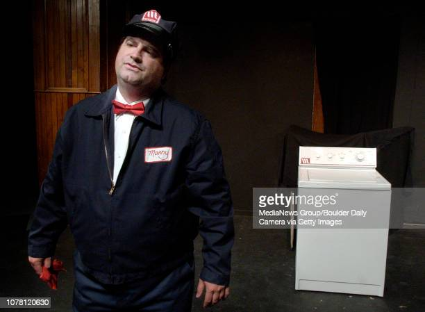 Manny the repairman center portrayed by Tom Doyle is torn for his love of the 'Perfect Washing Machine' left played by Dana Elizabeth Ambrose in the...