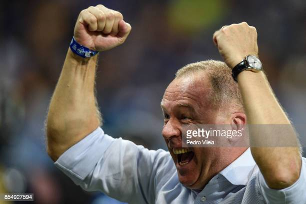 Mano Menezes coach of Cruzeiro celebrates the title after a match between Cruzeiro and Flamengo as part of Copa do Brasil Final 2017 at Mineirao...