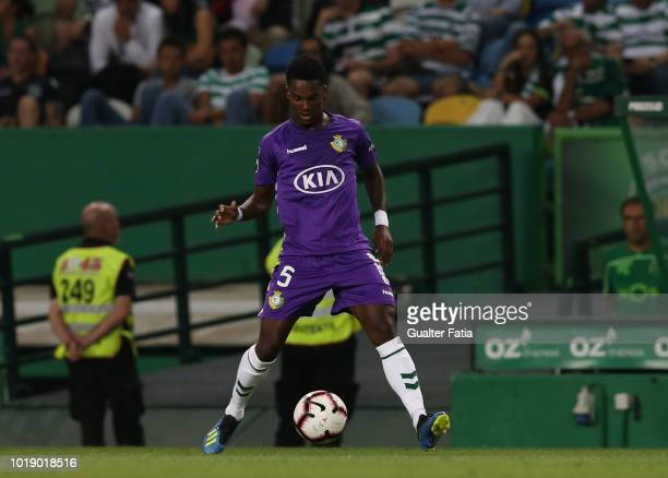 Mano of Vitoria FC in action during the Liga NOS match between Sporting CP and Vitoria FC at Estadio Jose Alvalade on August 18 2018 in Lisbon...