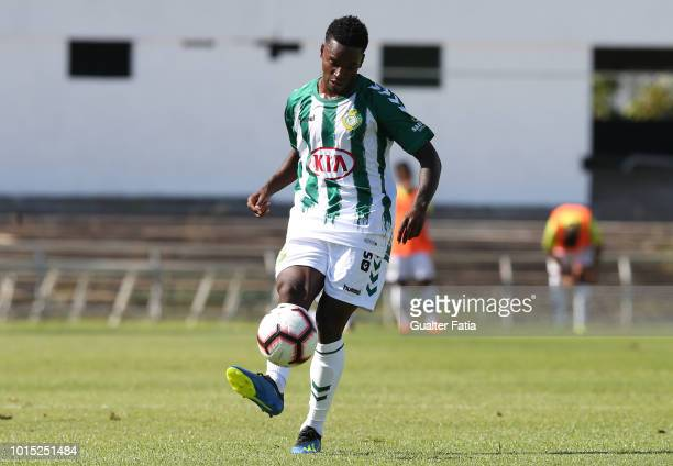 Mano of Vitoria FC in action during the Liga NOS match between Vitoria FC and CD Aves at Estadio do Bonfim on August 11 2018 in Setubal Portugal