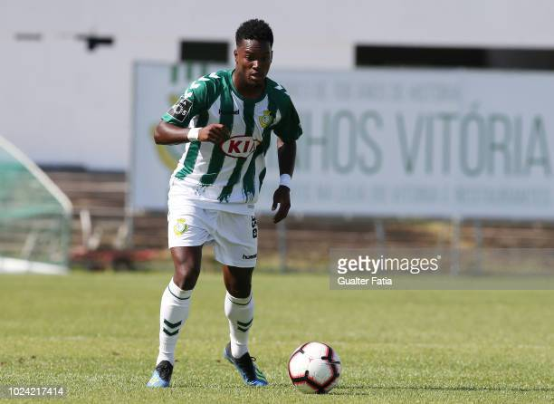 Mano of Vitoria FC in action during the Liga NOS match between Vitoria FC and CD Nacional at Estadio do Bonfim on August 26 2018 in Setubal Portugal