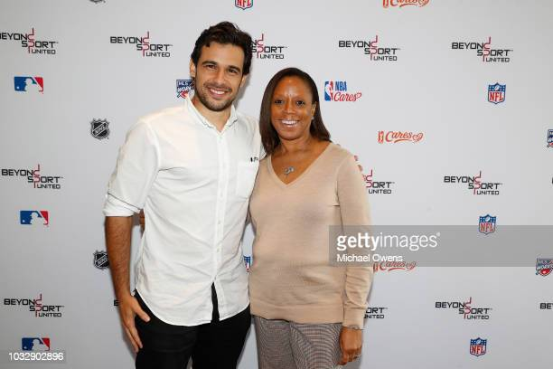 Mano Silva and Angela Woods at the NYU Kimmel Center during the Beyond Sport United event on September 13 2018 in New York City