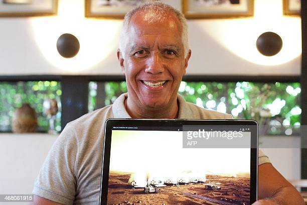 Manoel Belem physics professor and entrepreneur and one of the Latin Americans shortlisted for the Mars One project poses for a picture on February 5...