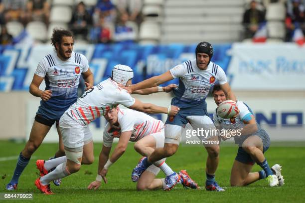 Manoel Dall Igna of France during the match between England and France at the HSBC Paris Sevens stage of the Rugby Sevens World Series on May 13 2017...