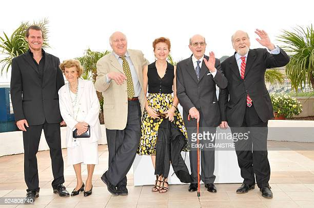 Manoel de Oliveira Michel Piccoli Isabel de Oliveira Ricardo Trepa Jao Benard da Costa and Ludivine Clerc during the 61st Cannes Film Festival