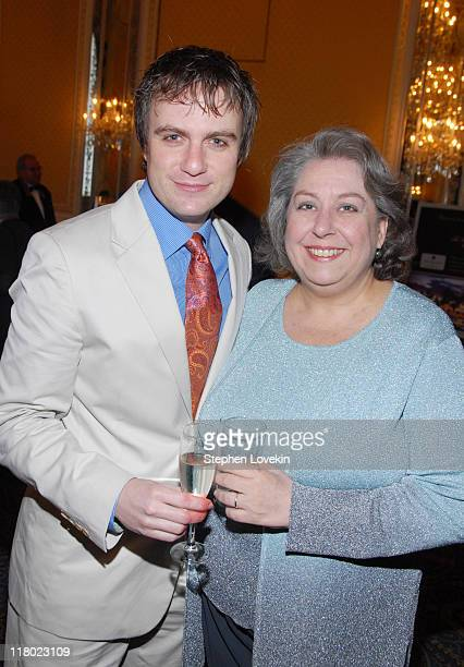 Manoel Felciano and Jayne Houdyshell during 60th Annual Tony Awards Cocktail Celebration at The Waldorf Astoria in New York City New York United...