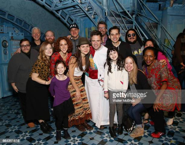 Manoel Felciano with Adam ChanlerBerat Phillipa Soo and cast during the Actors' Equity Broadway Opening Night Gypsy Robe Ceremony honoring Manoel...