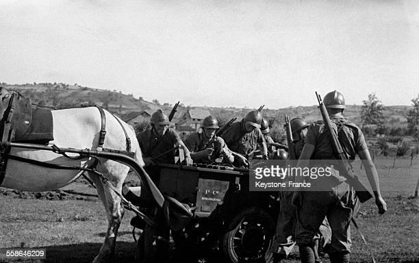Manoeuvres du 150ème Régiment dans les environs de Vichy France