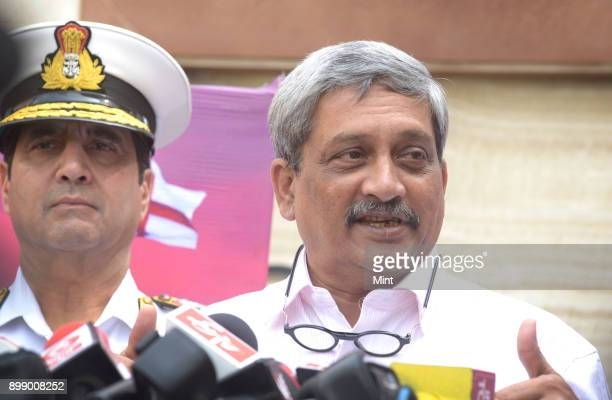 Manohar Parrikar Defence Minister Govrenment of India speaks at International Maritime Conference during International Fleet Review 2016 in...