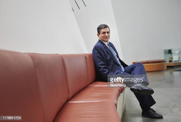 Manoj Malhotra, dean of the Weatherhead School of Management at Case Western University, sits for a photograph on campus in Cleveland, Ohio, U.S., on...