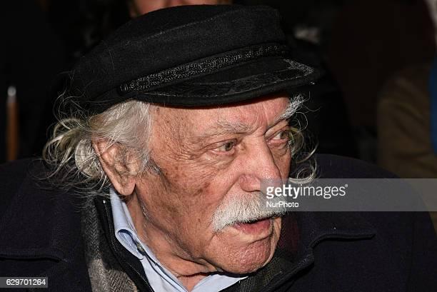 Manolis Glezos former MP for SYRIZA WW II Veteran attends presentation of a book of Alternate Minister of Finance Nantia Valavani Third memorandum...