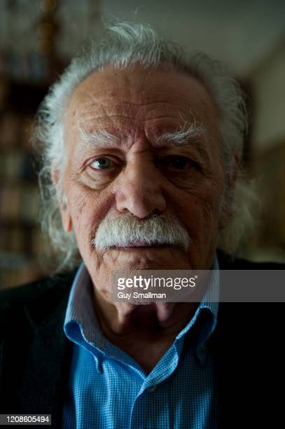 Manolis Glezos poses for a photo on March 19 2012 in Athens Greece During the Second World War Glezos and a comarade tore down the Nazi Swastika flag...