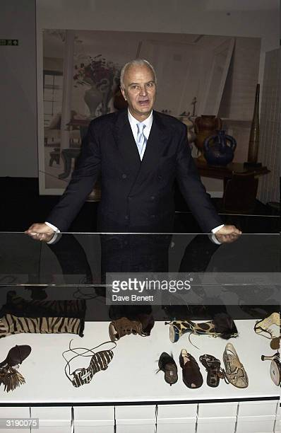 Manolo Blahnik attends his exhibition at the Design Museum on January 30 2003 in London