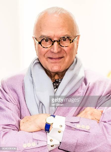 Manolo Blahnik attends his Manolo Blahnik store launch at Burlington Arcade on February 2 2016 in London England