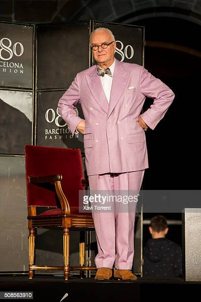 Manolo Blahnik attends the conference 'Fleeting Gestures and Obsessions' during the Barcelona 080 Fashion Week Autumn/Winter 2016/2017 on February 5...