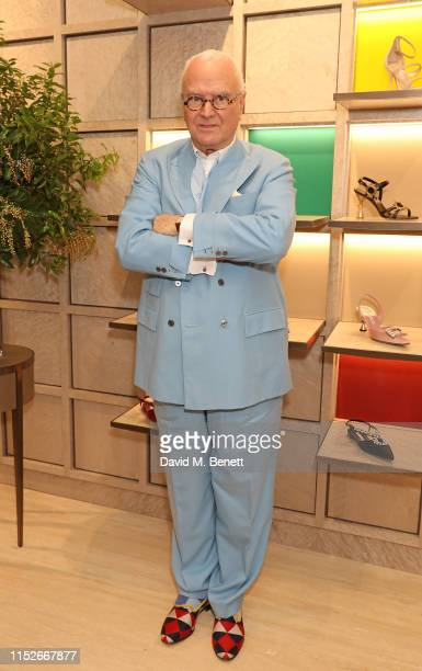 Manolo Blahnik attends the launch of the new Manolo Blahnik boutique in Selfridges on May 30, 2019 in London, England.
