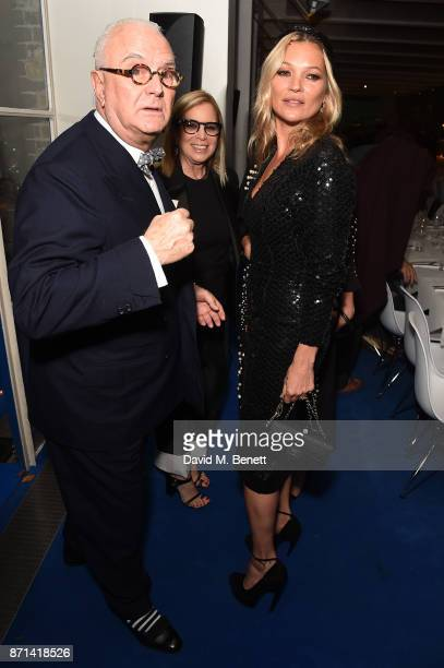 Manolo Blahnik Ronnie CookNewhouse and Kate Moss attend a dinner hosted by Jonathan Newhouse and Albert Read for Edward Enninful to celebrate the...