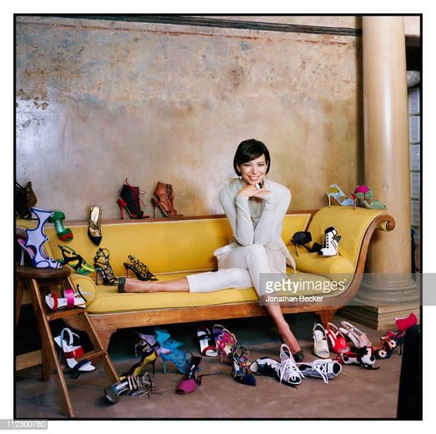 Manolo Blahnik's niece Kristina Blahnik is photographed for Vogue Magazine on April 21 2010 in London England
