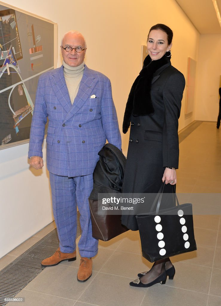 Manolo Blanhik and Kristina Blanhik attend as PORTER hosts the first of their 'Incredible Women' Talks supported by Mark's Club at The Serpentine Sackler Gallery on February 1, 2017 in London, England.