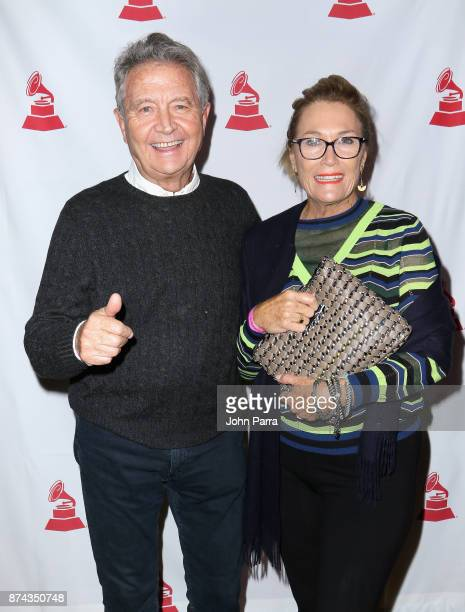 Manolo Diaz and Rose McVeigh attend the CPI Event during the 18th annual Latin Grammy Awards at the Hardwood Suite at Palms Casino Resort on November...