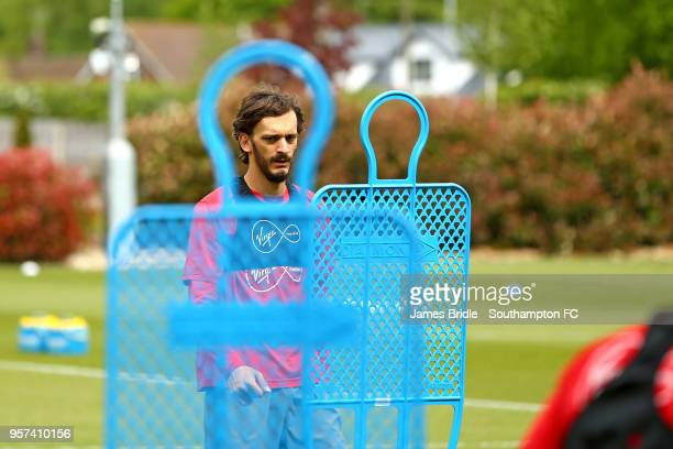 Manolo Gabbiadini during a Southampton FC training session at Staplewood Complex on May 11 2018 in Southampton England