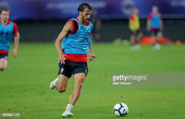 Manolo Gabbiadini during a Southampton FC training session while on their pre season tour of China on July 9 2018 in Xuzhou China