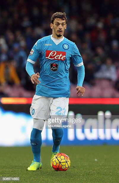 Manolo Gabbiadini of Napoli during the Serie A match between SSC Napoli and Carpi FC at Stadio San Paolo on February 7 2016 in Naples Italy