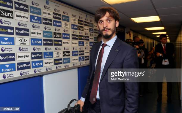 Manolo Gabbiadini of Southampton ahead of the Premier League match between Everton and Southampton at Goodison Park on May 5 2018 in Liverpool England