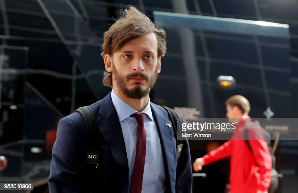 Manolo Gabbiadini of Southampton ahead of the Premier League match between Southampton and Manchester City at St Mary's Stadium on May 13 2018 in...