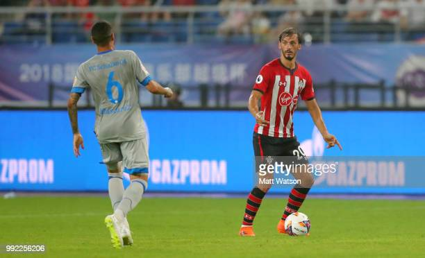 Manolo Gabbiadini of Southampton during the pre season 2018 Clubs Super Cup match between Southampton FC and FC Schalke at Kunshan Sports Center on...