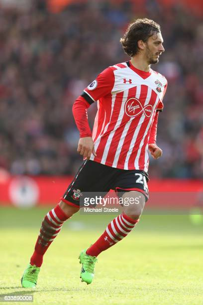 Manolo Gabbiadini of Southampton during the Premier League match between Southampton and West Ham United at St Mary's Stadium on February 4 2017 in...