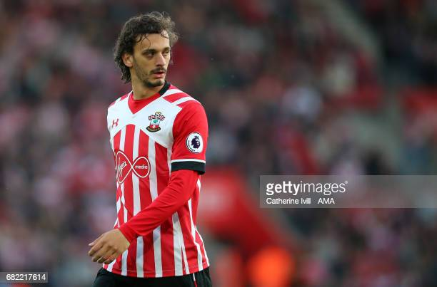 Manolo Gabbiadini of Southampton during the Premier League match between Southampton and Arsenal at St Mary's Stadium on May 10 2017 in Southampton...